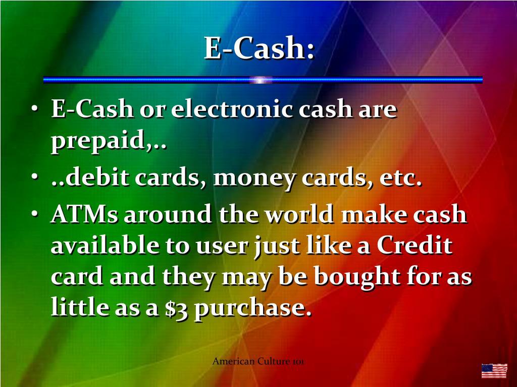 E-Cash: