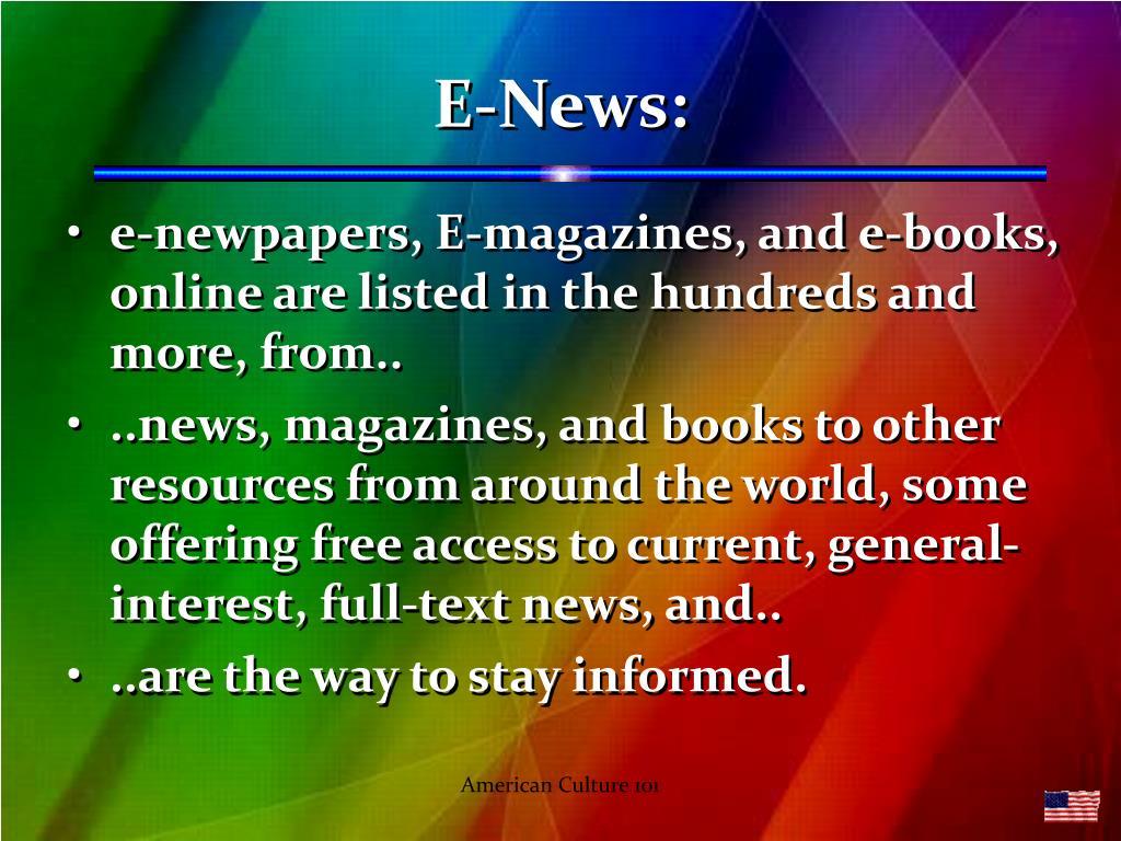 E-News: