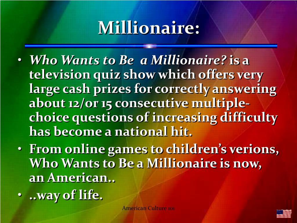 Millionaire: