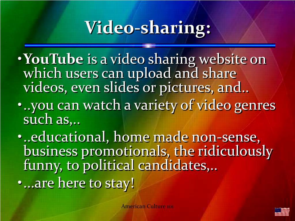 Video-sharing: