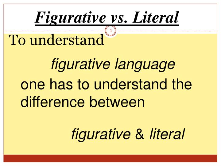 literal vs figurative blindness Literal and figurative language is a distinction within some fields of language analysis, in particular stylistics, rhetoric, and semantics literal language uses words exactly according to their conventionally accepted meanings or denotation.
