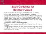 basic guidelines for business casual