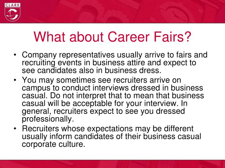 What about Career Fairs?