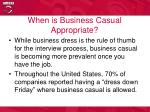 when is business casual appropriate