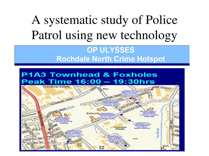 Evaluating the Effectiveness of Random Preventive Patrol
