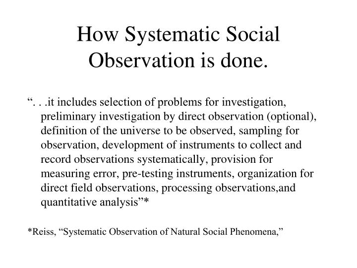 systematic observation