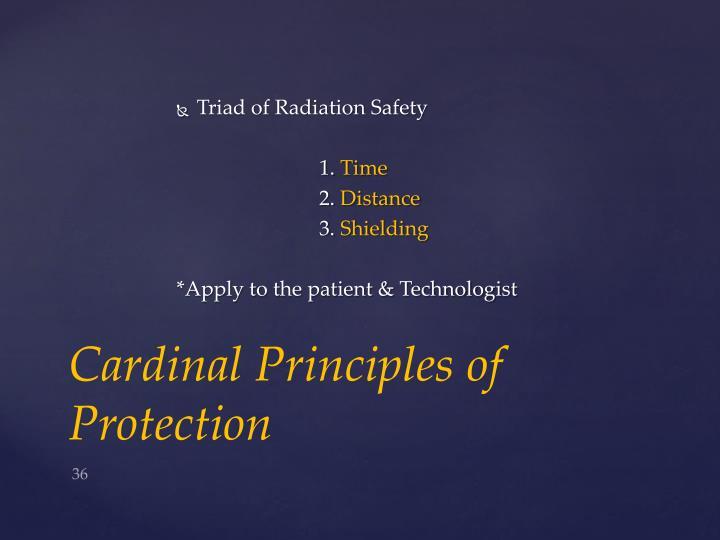 Triad of Radiation Safety