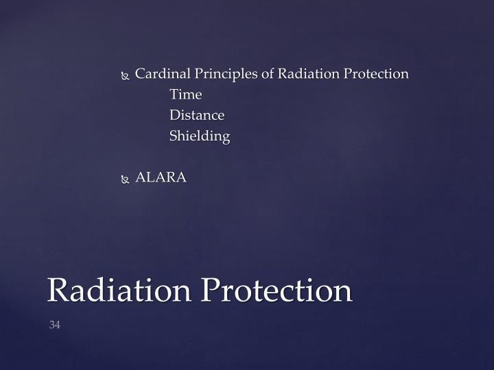 Cardinal Principles of Radiation Protection