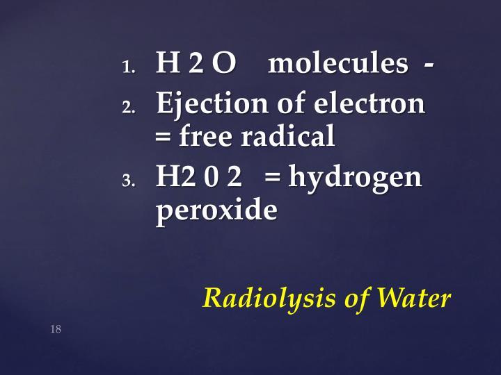 H 2 O    molecules  -