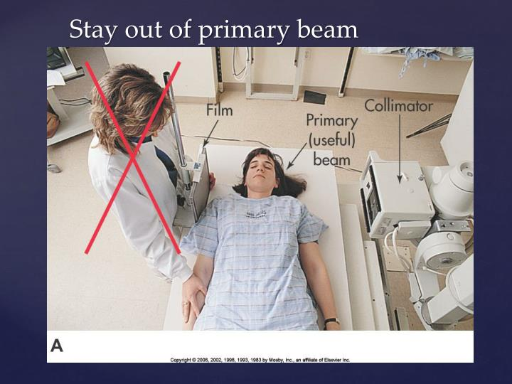 Stay out of primary beam