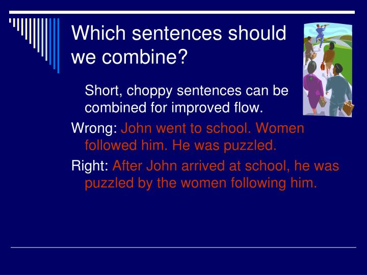 Which sentences should