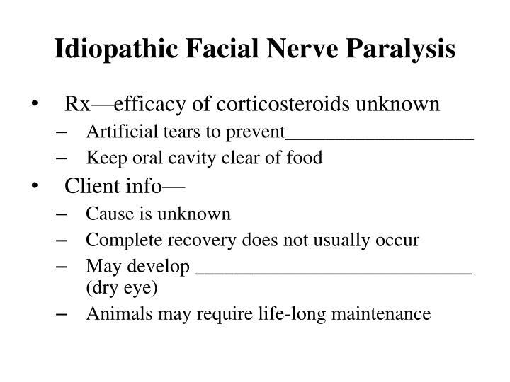 Idiopathic Facial Nerve Paralysis