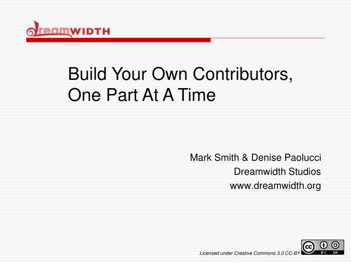Build Your Own Contributors,