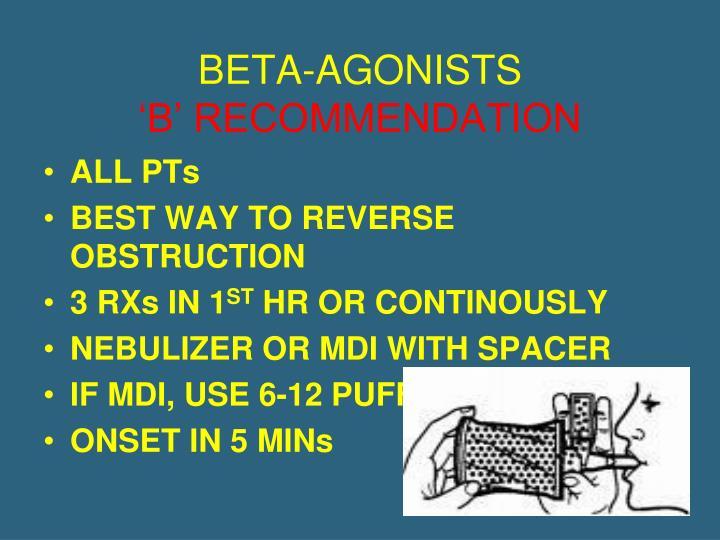 BETA-AGONISTS
