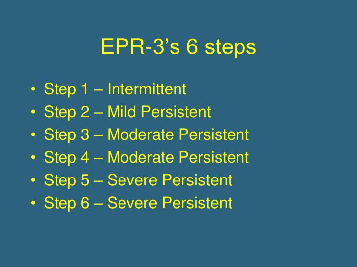 EPR-3's 6 steps