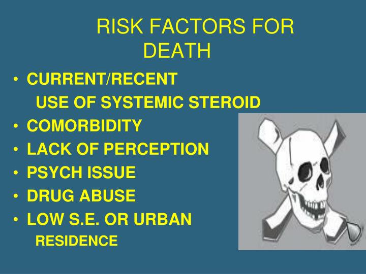 RISK FACTORS FOR DEATH