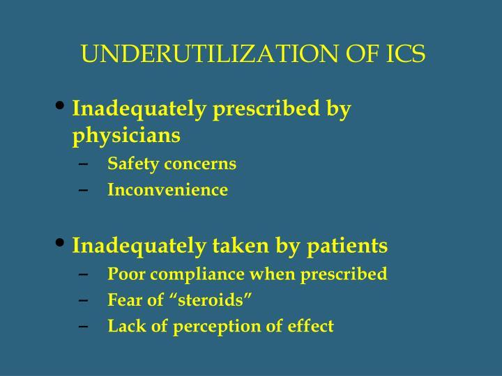 UNDERUTILIZATION OF ICS