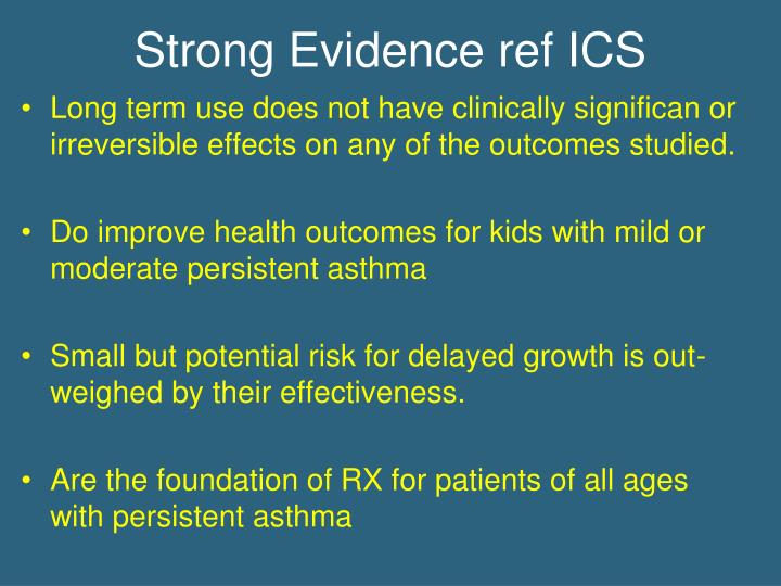 Strong Evidence ref ICS