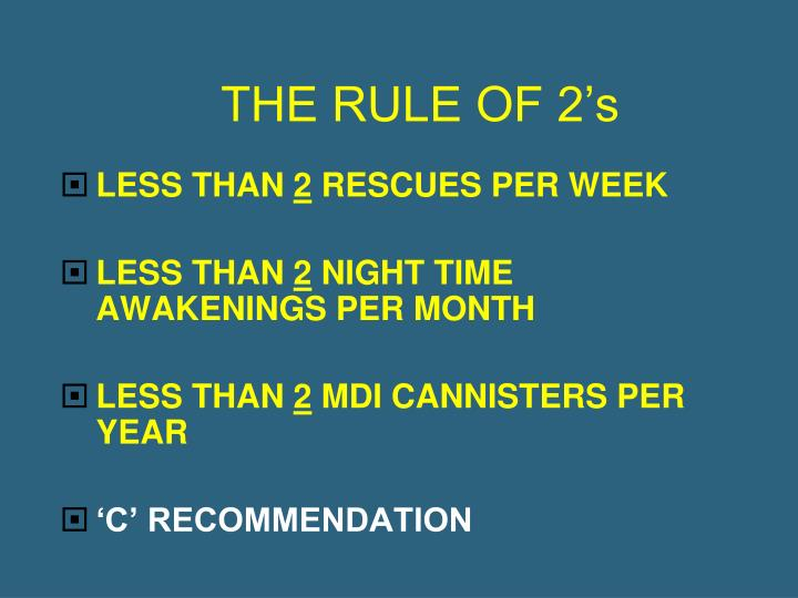 THE RULE OF 2's