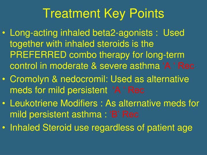 Treatment Key Points
