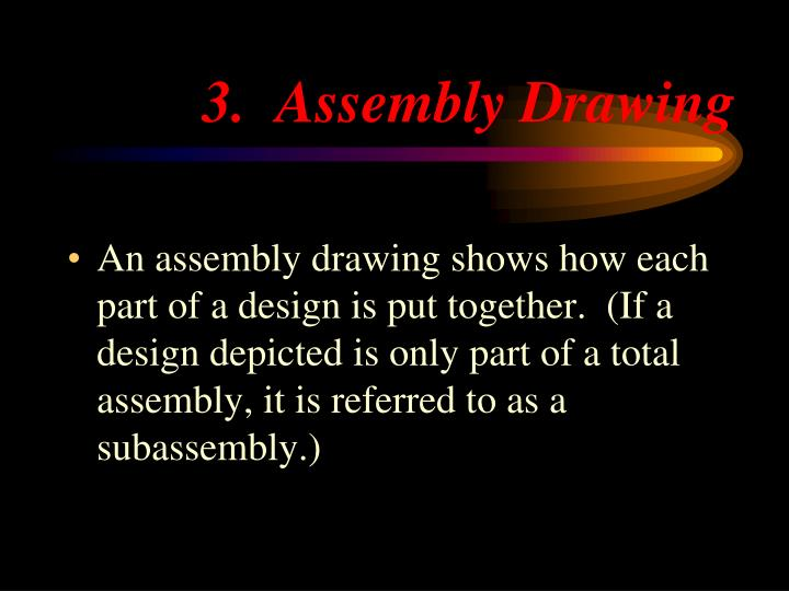 3.  Assembly Drawing