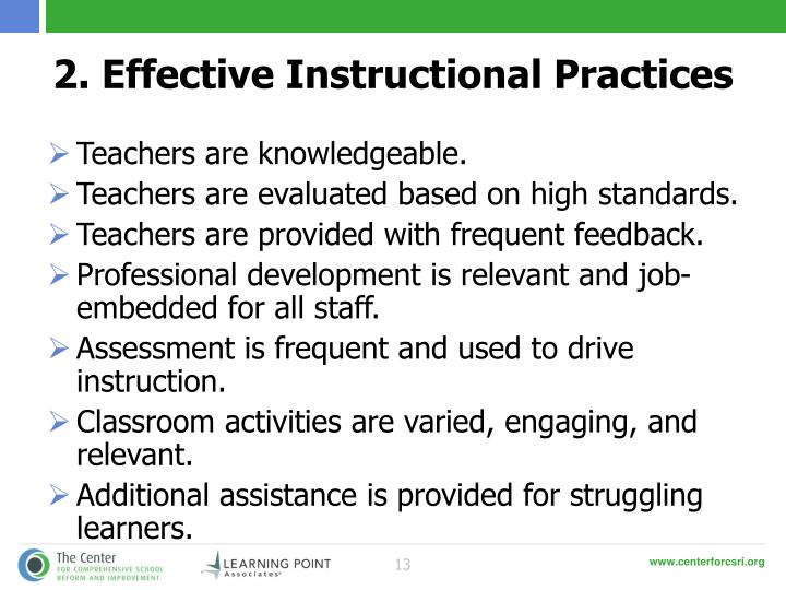 2. Effective Instructional Practices