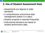 3 use of student assessment data
