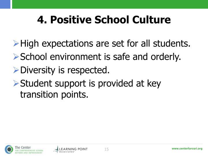 4. Positive School Culture