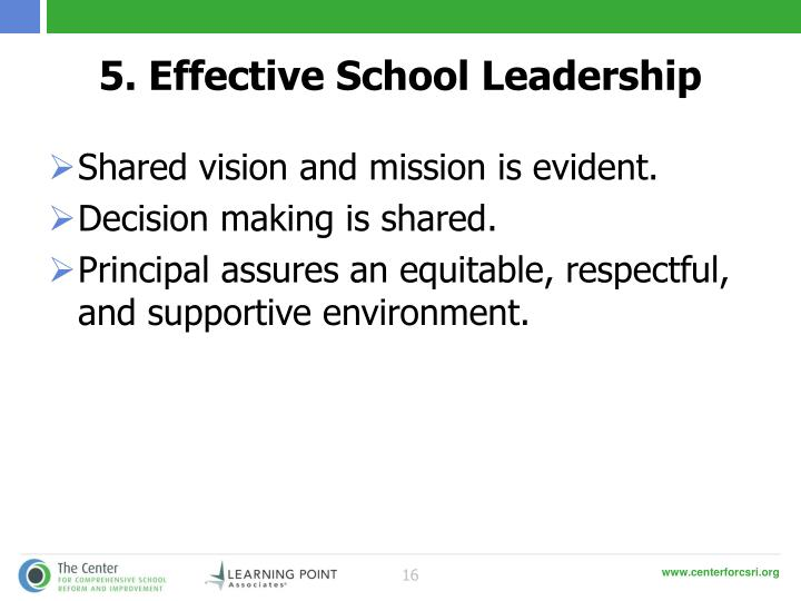 5. Effective School Leadership