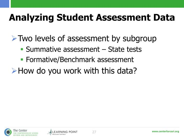 Analyzing Student Assessment Data