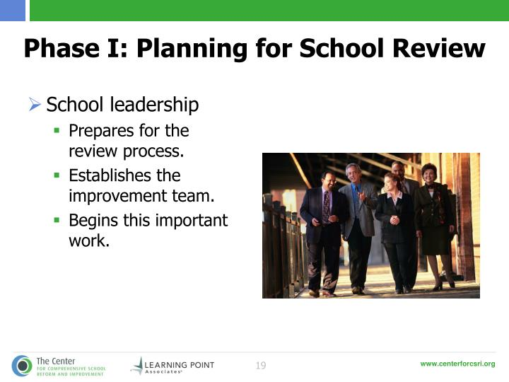Phase I: Planning for School Review