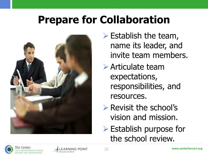Prepare for Collaboration