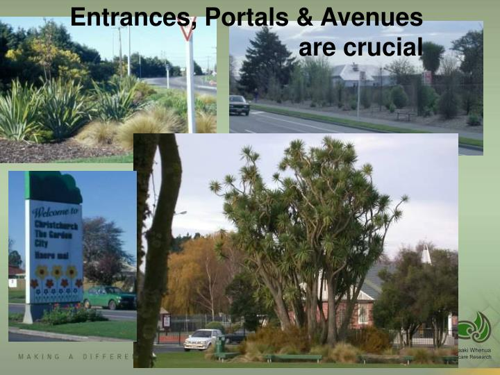 Entrances, Portals & Avenues