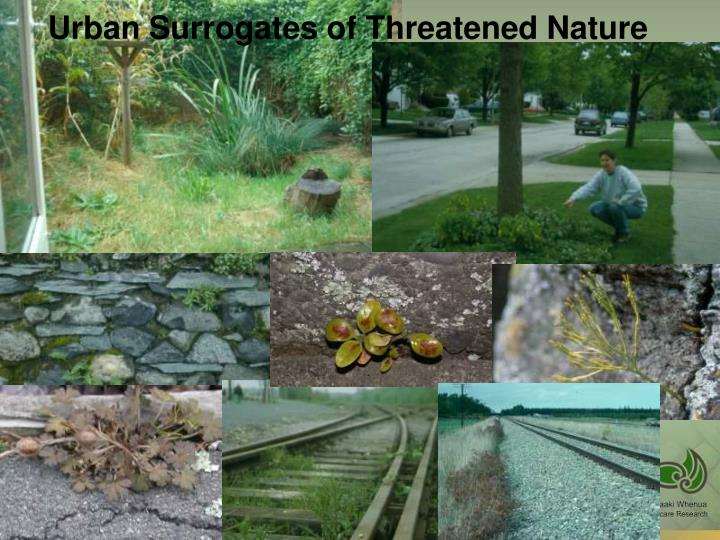 Urban Surrogates of Threatened Nature