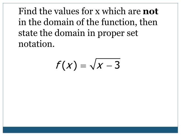 Find the values for x which are