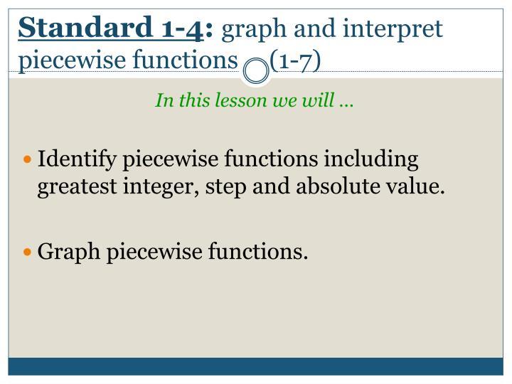 Standard 1-4