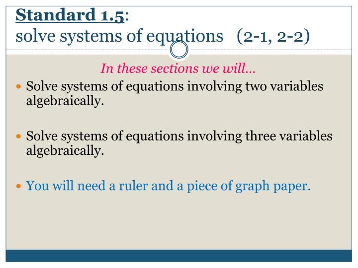 Standard 1.5