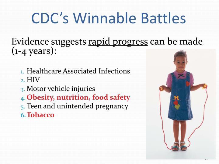 CDC's Winnable Battles