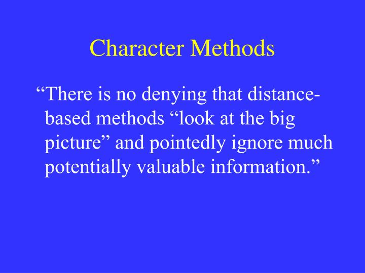 Character Methods