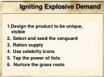 igniting explosive demand