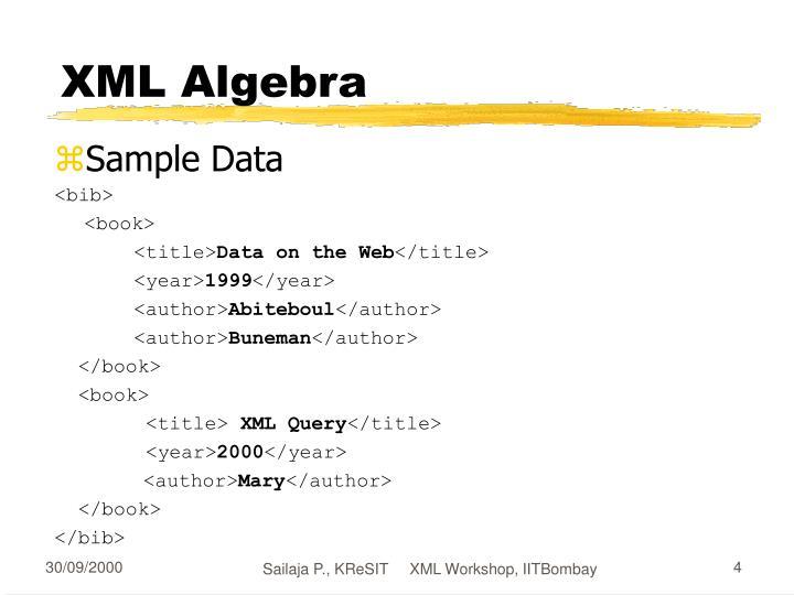 XML Algebra