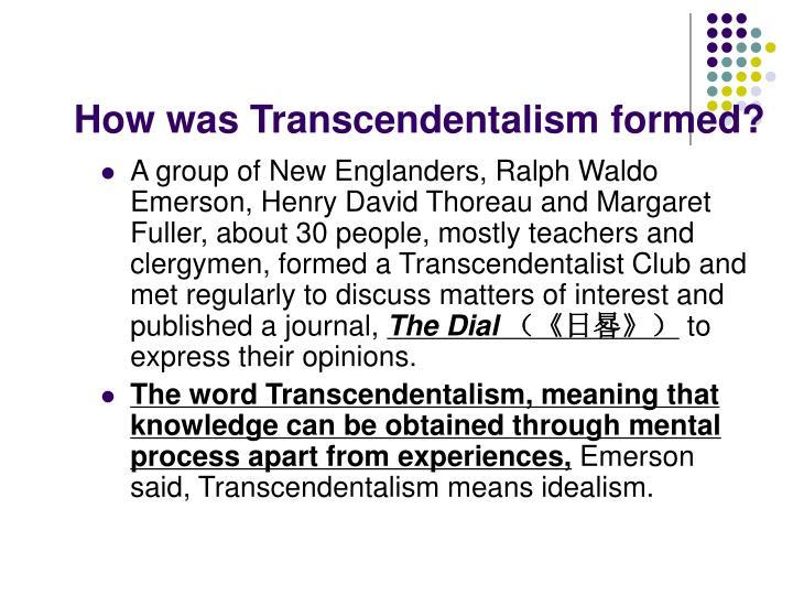Transcendentalism essay