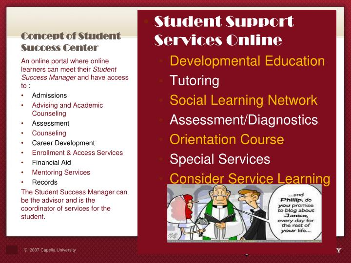 Concept of Student Success Center