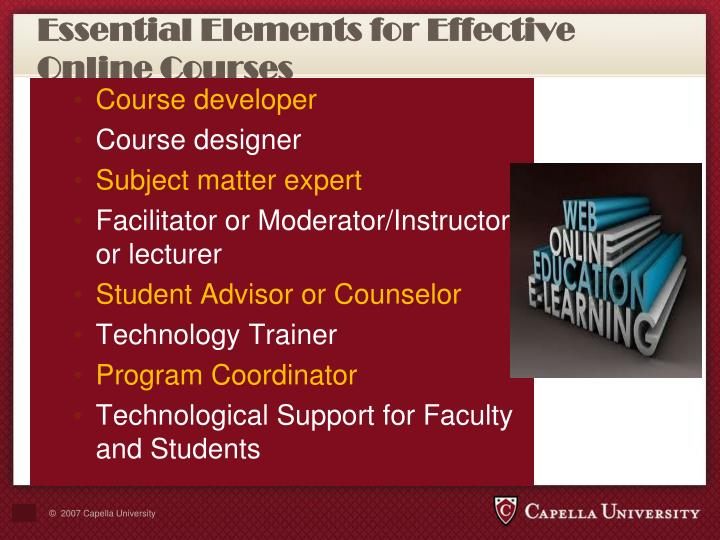 Essential Elements for Effective Online Courses