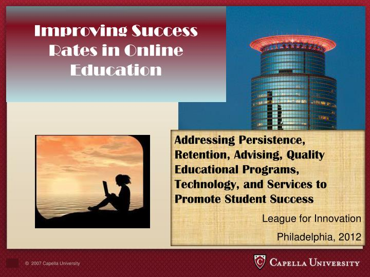 Improving Success Rates in Online Education