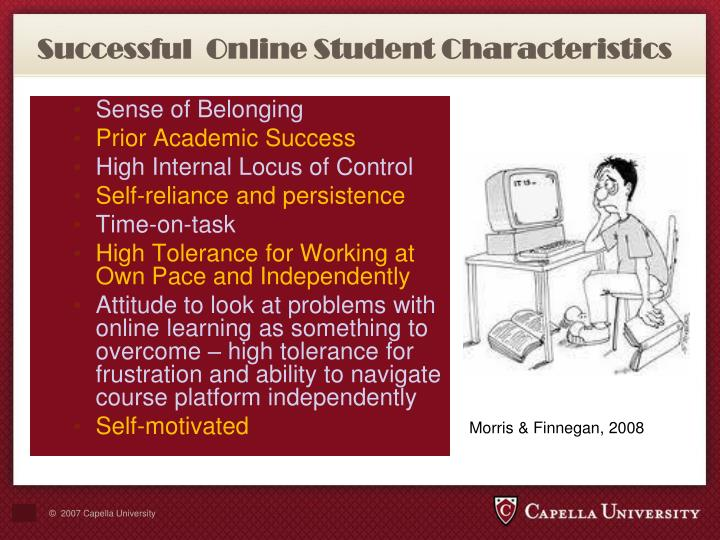 Successful  Online Student Characteristics