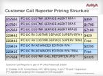 customer call reporter pricing structure