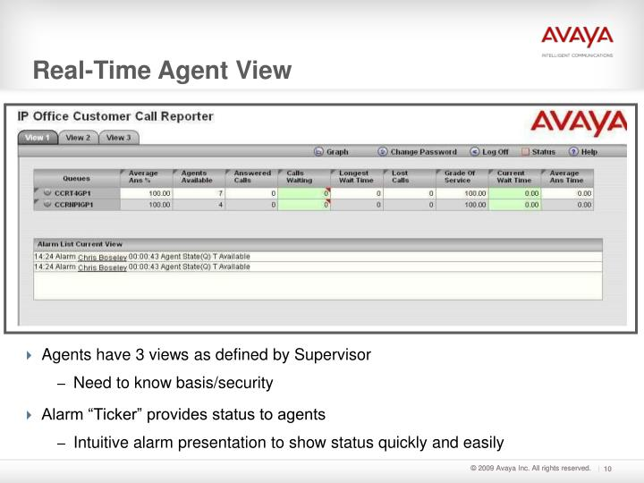 Agents have 3 views as defined by Supervisor