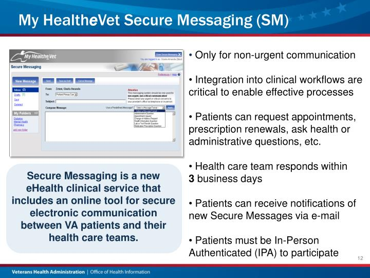 ppt   my health e vet personal health record and secure