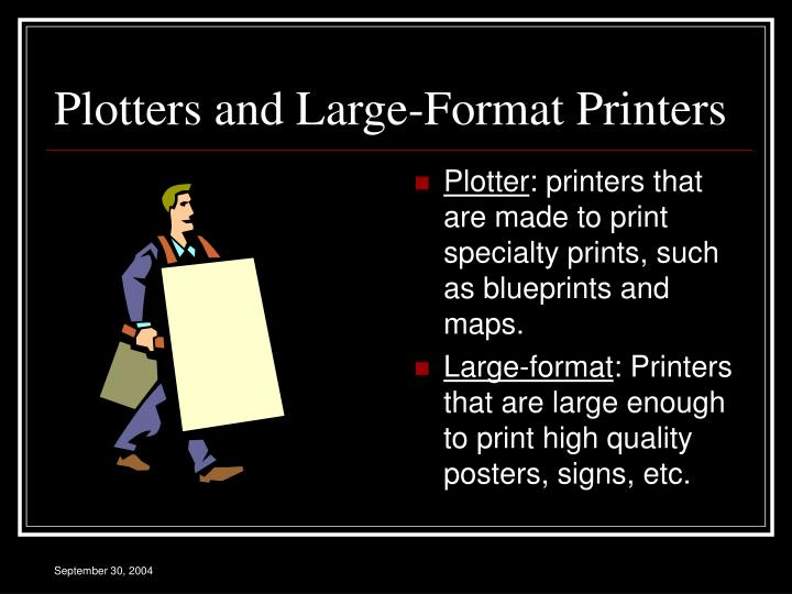 Plotters and Large-Format Printers